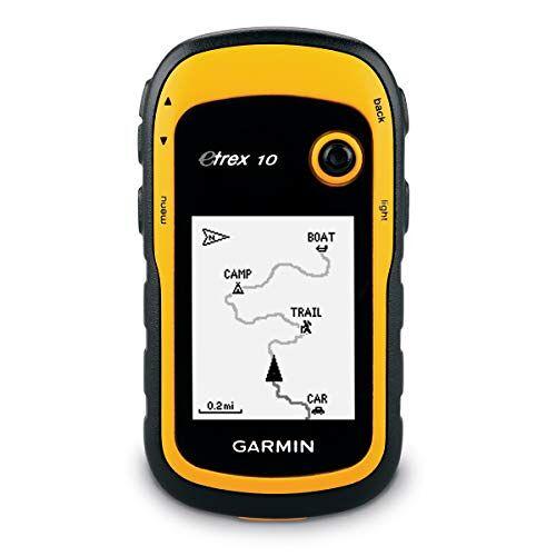 Garmin eTrex 10 GPS Handapparaat, 2,2 inch Monochrome, Batterijduur tot 25 uur, Zwart/Geel