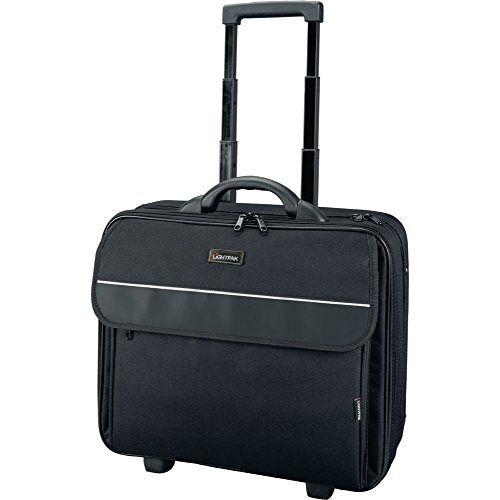 "92702 Lightpak  Business Laptop Overnight Trolley TREVISO, rolkoffer van polyester, reiskoffer met organizer compartiment, koffer voor 17"" notebook, laptopkoffer in zwart, ca. 40 x 43,5 x 15 cm"