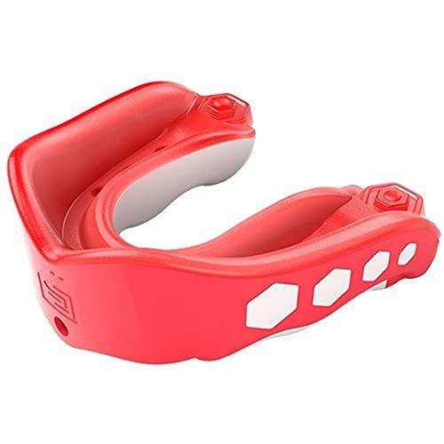 6343-FP-AD Shock Doctor Gel Max mondbescherming/mond- en tandbeschermer voor volwassenen (vanaf 11 senioren) (roze/wit)