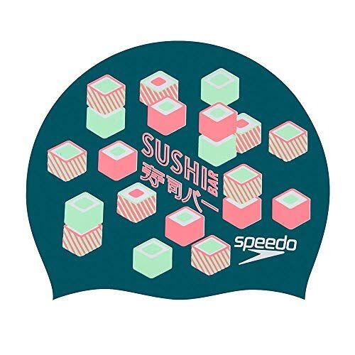808385D434 Speedo Unisex volwassenen met opdrukte slogan badmutsen