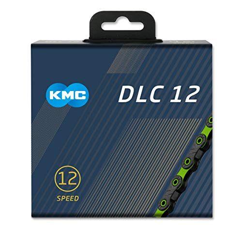 """BD12GG126 KMC Unisex's DLC 12 Ketting, Zwart/Groen, 1/2"""" x 11/128"""