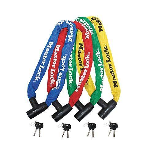 8391EURDPROCOL Master Lock Fietskettingslot [Sleutel] [90 cm Ketting] [Willekeurige kleur]  voor Stadsfiets, Elektrische fiets, MTB, Racefiets, Vouwfiets