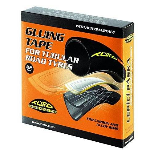 022 Tufo  Kleefband voor Road Tubular Rims, Unisex Volwassene, Zwart, 700 x 22 mm