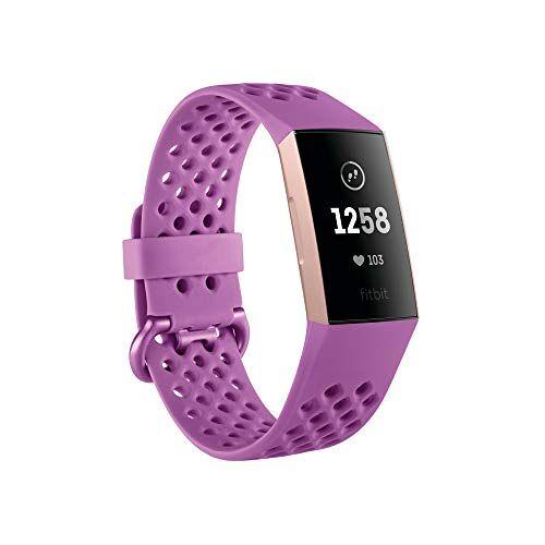 FB409RGMG Fitbit Unisex Adult Charge 3 De innovatieve gezondheids- en fitnesstracker, Berry Sport Advanced Health & Fitness, Lila