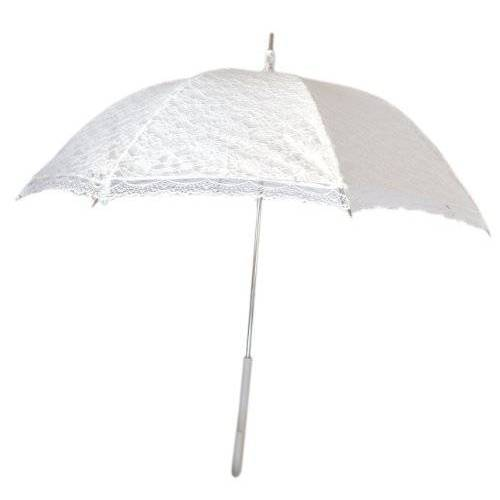 694_255 Bruiloftsparaplu / Victoriaanse paraplu / vintage bruidsparaplu met witte bekleding en kant dak / retro paraplu / bruiloft / bruid / kanten paraplu / wit / wit