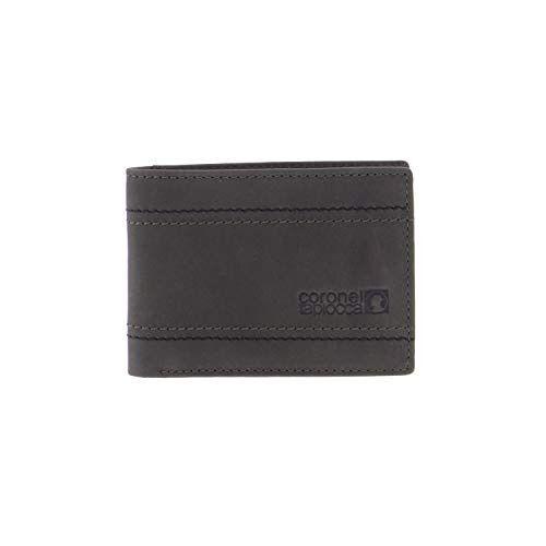 WLX2701005 Portemonnee Tapioca Adolfo Kaki voor heren/jongeren met vakken voor bankbiljetten, ritsvak achter, vakken voor kaarten en binnenvakken.