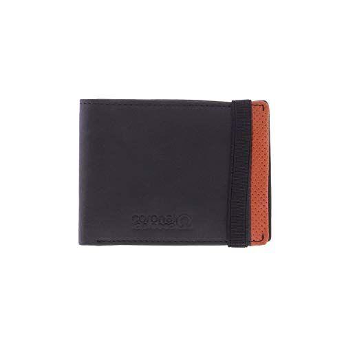 WLX2705001 Portemonnee Tapioca Aitor zwart voor heren/jongeren met vak voor bankbiljetten, tas, vakken voor kaarten en binnenvakken.