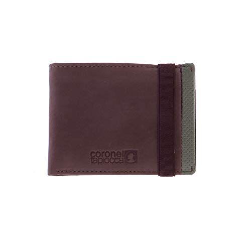 WLX2705051 Portemonnee Tapioca Aitor bruin voor heren/jongeren met vak voor bankbiljetten, tas, vakken voor kaarten en binnenvakken.