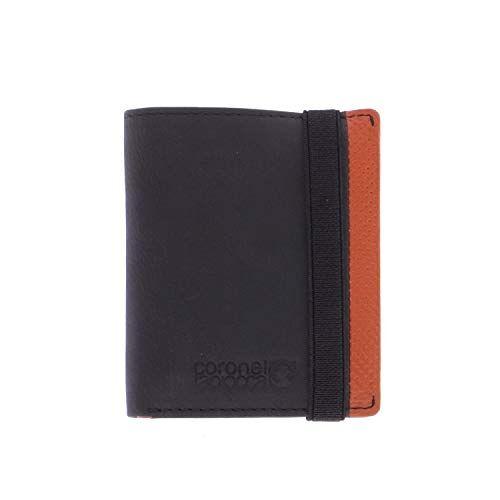WLX2706001 Zwarte portemonnee voor heren/jongeren, met vak voor bankbiljetten, tassen, vakken voor kaarten en binnenvakken.