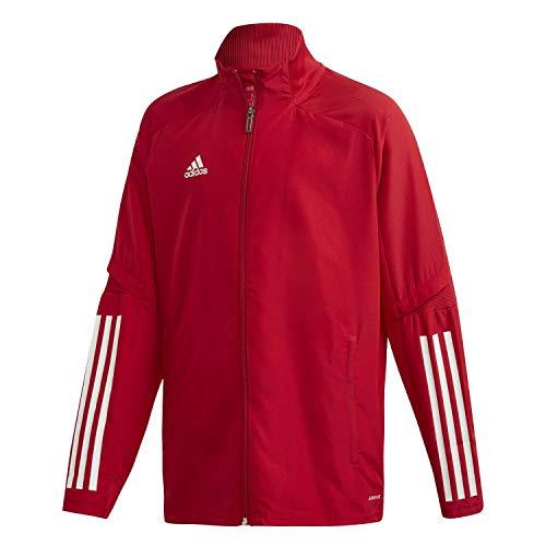 ED9240 Adidas Condivo 20 presentatiejack presentatie, kinderen, team power rood/wit, 140
