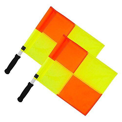 LFRY Optimale training scheidsrechterassistenten vlag set, oranje/geel