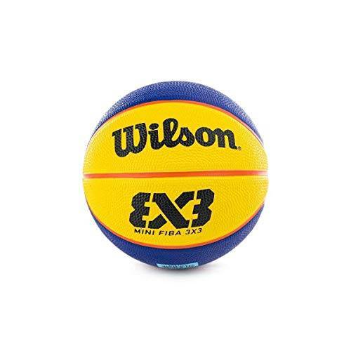 WTB1733XB Wilson Unisex FIBA 3X3 Mini Rubber Basketbal, Bruin