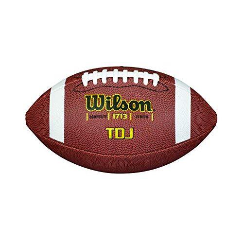 WTF1713X Wilson American Football voor kinderen en tieners, gemengd leer, TDJ COMPOSITE KIDS Brown,