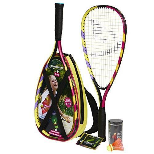 400043 Speedminton Junior Set – Original Speed Badminton/Crossminton Kinderset incl. 2 FUN Speeder, tas