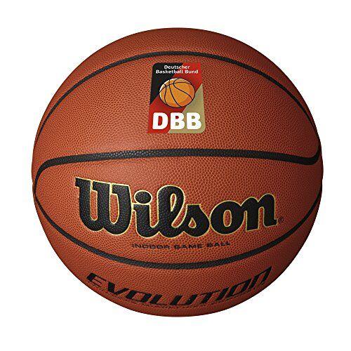 WTB0516XBDBB Wilson Indoor basketbal, wedstrijd, sportparket, maat 7, EVOLUTION, bruin,