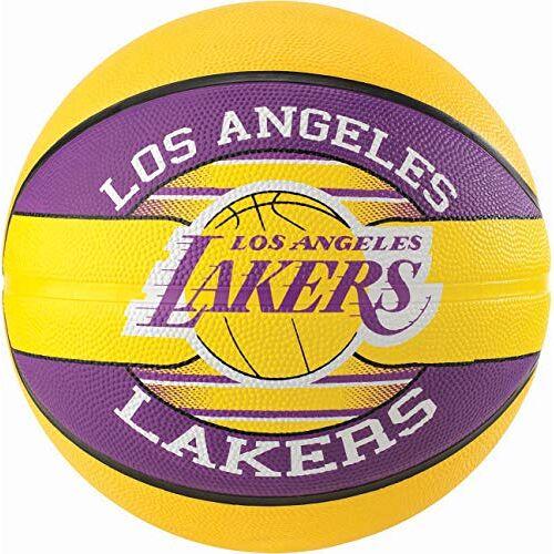 3001587013215 Spalding Unisex's Nba Team L.A. Lakers Basketbalbal, geel/paars, Maat: 5