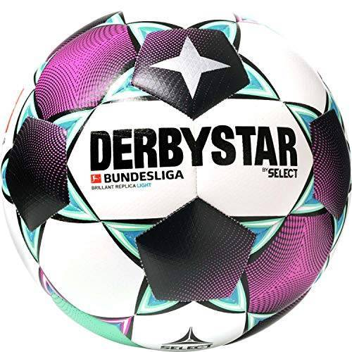 1315500020 Derbystar Unisex Jeugd Bundesliga Brillant Replica Light Voetbal, wit magenta mint, 5