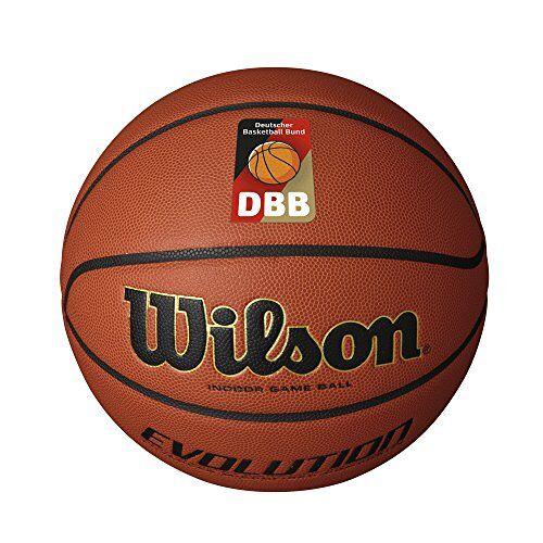 WTB0576XBDBB Wilson Indoor basketbalbal, wedstrijd, sportparket, maat 5, EVOLUTION, bruin,