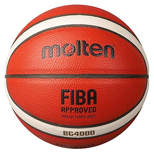 B7G4500 Molten BG4500 Basketbal Indoor FIBA Goedgekeurd Officiële BBL Game Ball Premium Composiet Leer Geschikt Voor Jongens Leeftijd 14 of Volwassen Training Basketballen