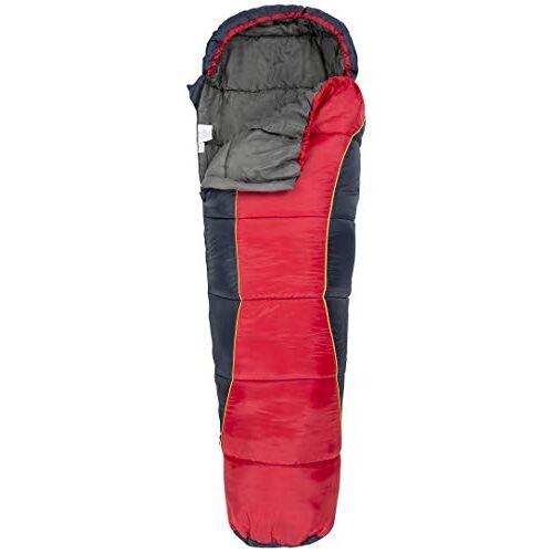 UCACSLI30001_REDEACH Trespass Unisex-Youth BUNKA 3-seizoen slaapzak met holle vezelvulling, 170 x 65 x 45 cm, rood, 170 cm x 65 cm x 45 cm