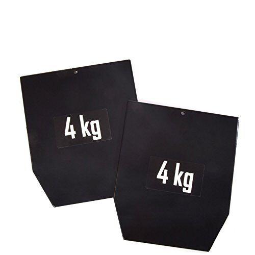 1799-1_Noir Sveltus plaat staal 1799-1 gewicht voor gewichtsvesten unisex volwassenen, zwart