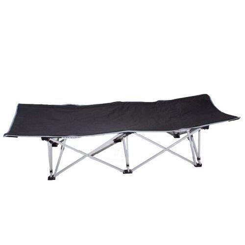 6327 Cao Campingbed, waterdicht, zwart.