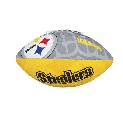 K-REY-WTF1534XBPT Wilson NFL Junior Team Logo, Pittsburgh Steelers, Junior