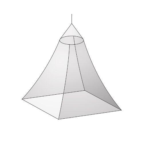 1433010 Basic Nature klamboe klassiek baldakijn, mesh 225, wit, één maat