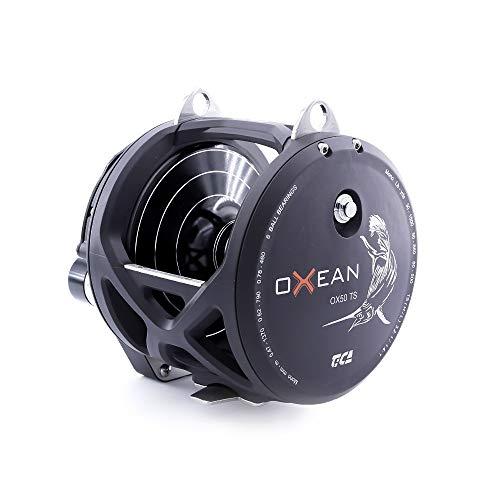 122621 TICA Oxean Ox50Ts visrol zwart mat Gear Ratio Double Speed 3.2/1.4