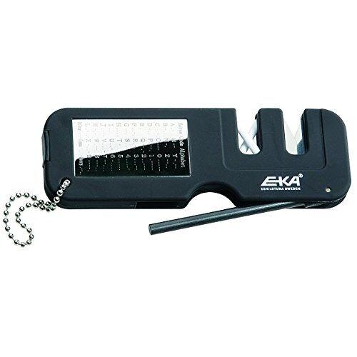 EKA-713201 EKA messen-accessoiresslijper met vuurstarter keramiek hardmetalen slijper lengte: 12,0 cm, zwart, S
