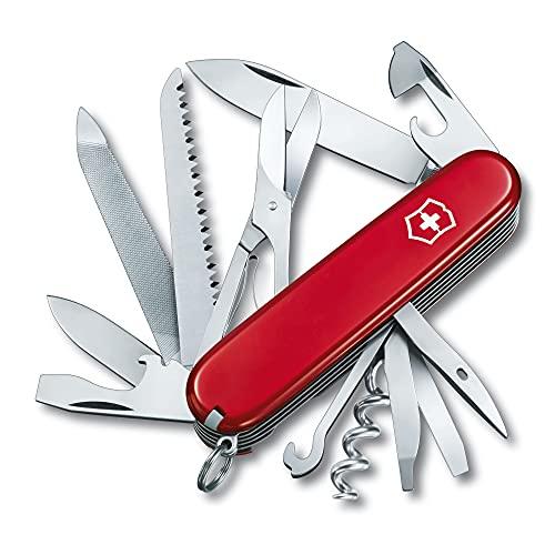 1.3763.B1 Victorinox Ranger zakmes (21 functies, metaalzaag, houtbeitel, schaar) rood