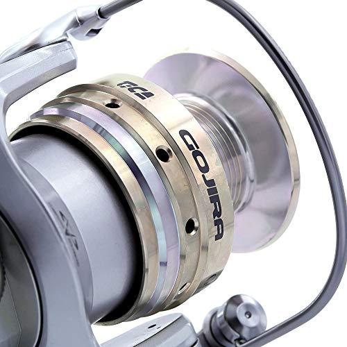 TICA Gojira GGPT 4500 met buisboog van legering, visrollen, aluminium, grijs metallic, goud