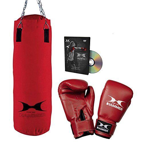 92012 HAMMER Boksset Fit met 60 cm lange bokszak, bokshandschoenen en trainings-DVD