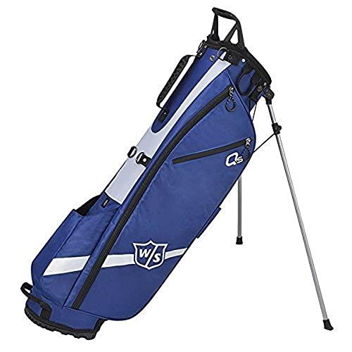 WGB4321BU Wilson Staff Golftas, Quiver Stand Bag, met 3 vakken, blauw,