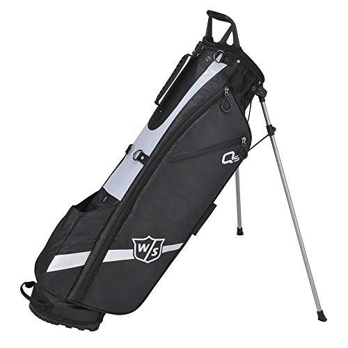 WGB4321BL Wilson Staff Golftas, Quiver Stand Bag, met 3 vakken, zwart,