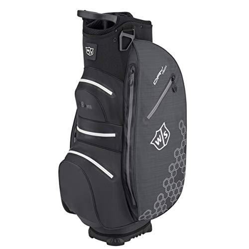 WGB4908 Wilson Heren W/S Dry Tech II CART BAG golftassen, zwart, één maat