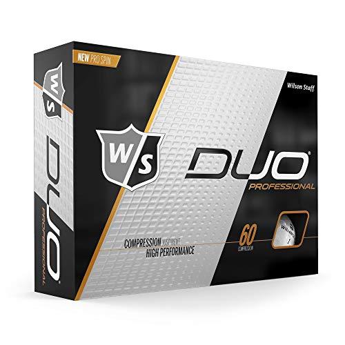 WGWP39600 Wilson Golf W/S Duo Professional, Wit, 12 ballen, Compressie 60, 362 Dimple, Urethaan,