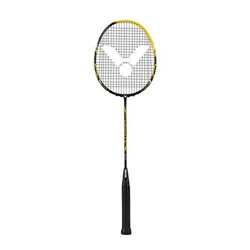 088/0/9 VICTOR badmintonracket Ultramate 9, mat geel zwart,