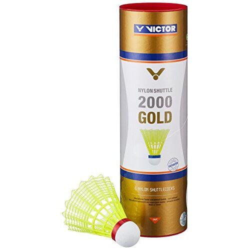 009/9/0 VICTOR Badminton shuttle nylon 2000 doos met 6 stuks, geel/rood