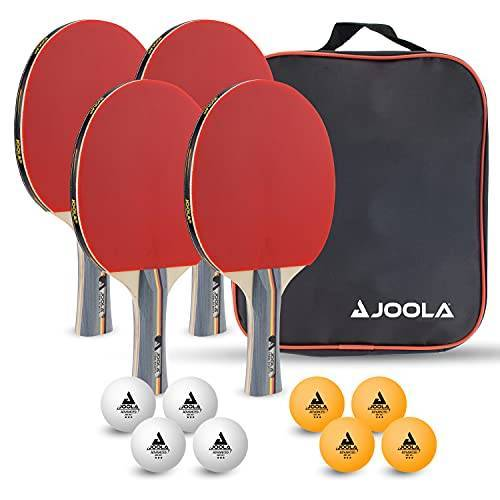 54825 JOOLA Tafeltennis-set Team School, bestaande uit 4 tafeltennisbatjes + 8 tafeltennisballen