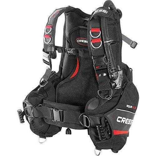 IC740701 Cressi Aqua Ride drijfvermogen compensatoren zwart/rood, klein