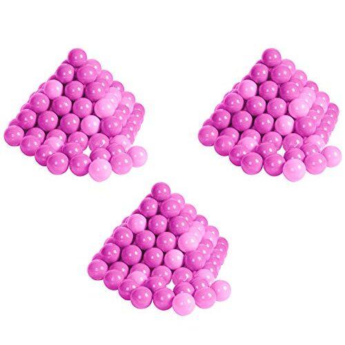 56792 Knorrtoys  Ballenset 300 kleurrijke plastic ballen / ballen voor ballenbad, 6 cm diameter, in kleurmix roze/roze, zonder gevaarlijke weekmakers, TÜV-getest