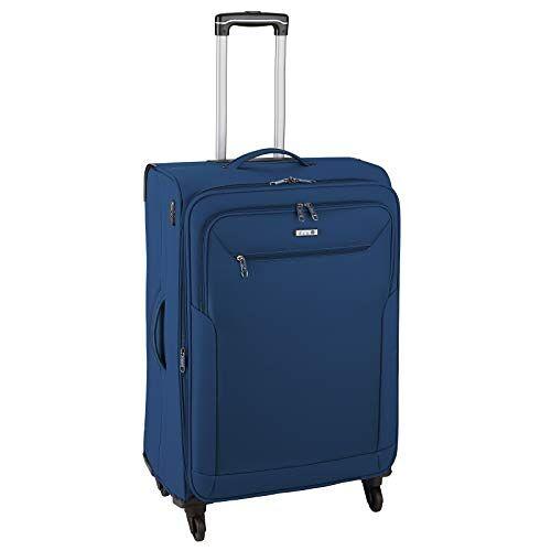 6864-16 D & N Travel Line 6804 koffer, 66 cm, blauw, 66 cm, koffer