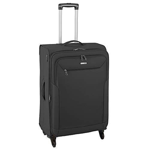 6864-01 D & N Travel Line 6804 Koffer, 66 cm, zwart (zwart)