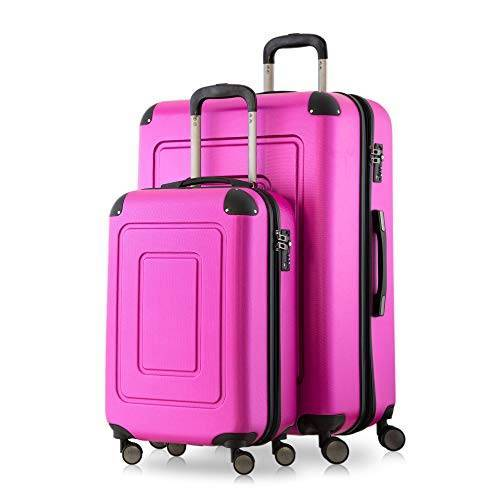 HT-1601-20-28-MG Happy Trolley Lugano handbagage, cabinetrolley, boordbagage, harde koffer, trolley, reiskoffer, zeer licht., magenta (roze)