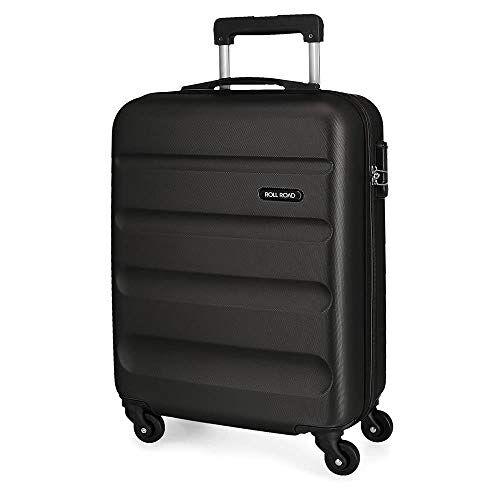 Harde schaal koffer 55 cm Roll Road Flex zwart