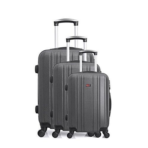BD-13962 Hero Stromboli kofferset, 76 cm, 189 liter, grijs (Gris Fonce)
