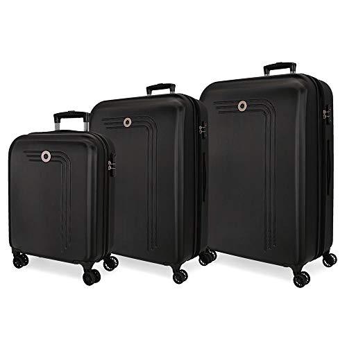 Movon koffer Riga harde schaal 55-70-80cm zwart