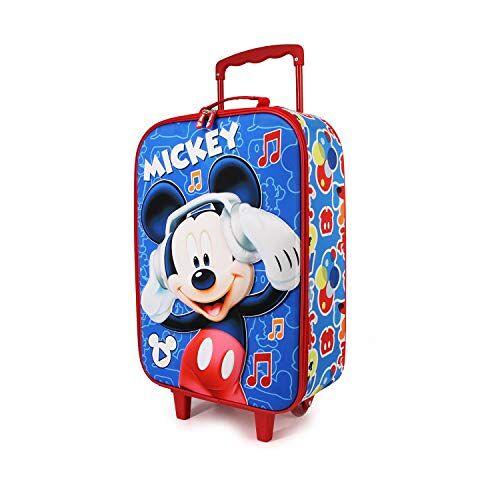 00372 Mickey Mouse Muziek Zachte 3D Trolley koffer