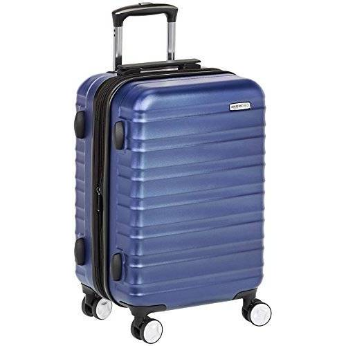 T1916-4 Amazon Basics premium harde omhulsel spinnerbagage met ingebouwd TSA-slot 55 cm handbagage, blauw